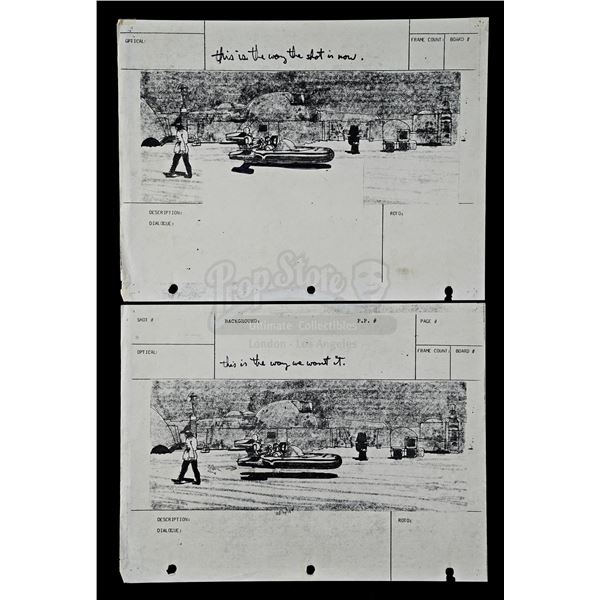 Lot # 283: STAR WARS - EP IV - A NEW HOPE (1977) - Production-Used Storyboards with George Lucas' Ha