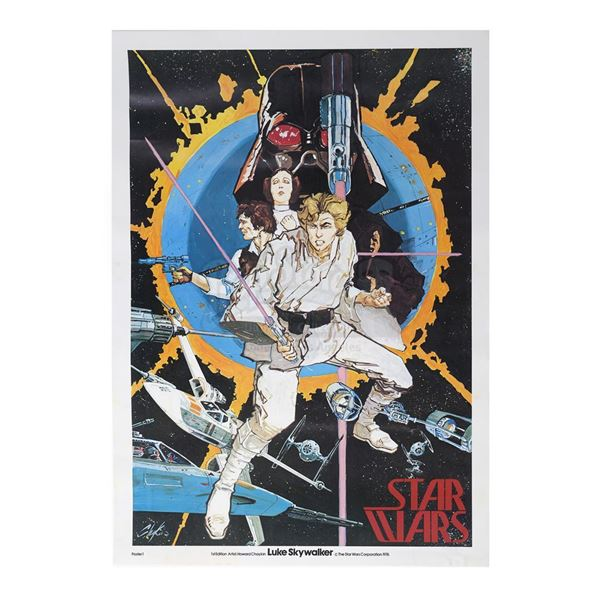"""Lot # 288: STAR WARS - EP IV - A NEW HOPE (1977) - Special """"Chaykin"""" Comic-Con One-Sheet"""