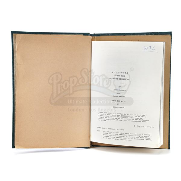 Lot # 301: STAR WARS - EP V - THE EMPIRE STRIKES BACK (1980) - Carrie Fisher's Heavily Annotated, Le