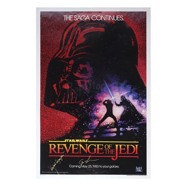 "Lot # 309: STAR WARS - EP VI - RETURN OF THE JEDI (1983) - ""Revenge of the Jedi"" Teaser One-Sheet Si"