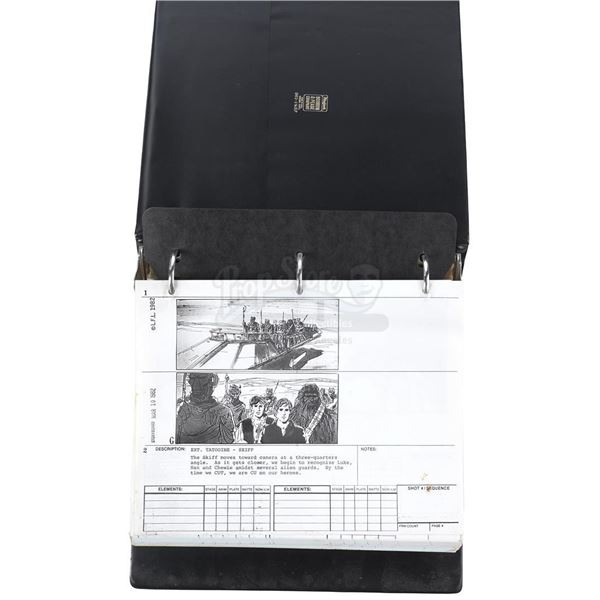 Lot # 314: STAR WARS - EP VI - RETURN OF THE JEDI (1983) - Production-Used Live-Action Storyboard Se