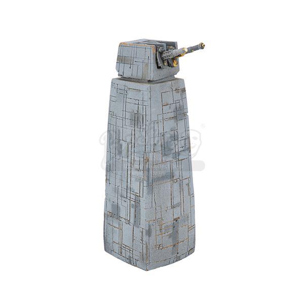 Lot # 322: STAR WARS - EP VI - RETURN OF THE JEDI (1983) - Death Star Gun Tower Model Miniature