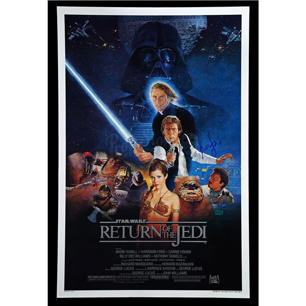 """Lot # 333: STAR WARS - EP VI - RETURN OF THE JEDI (1983) - Harrison Ford-Signed Rolled Style """"B"""" One"""