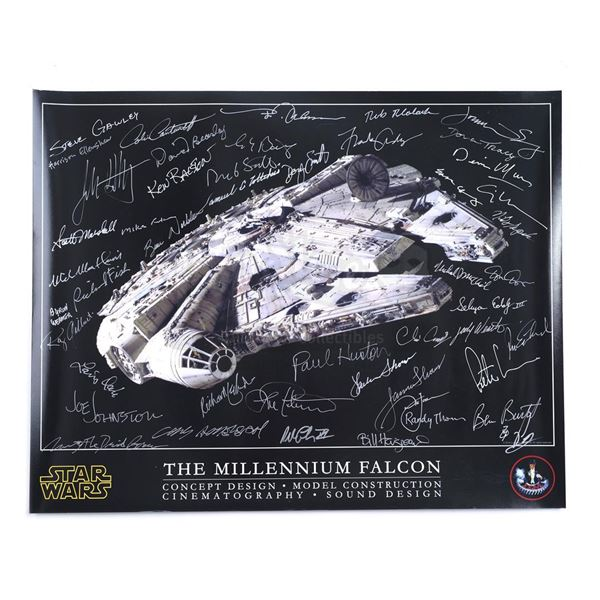 Lot # 334: STAR WARS - EP IV - A NEW HOPE (1977) - Industrial Light & Magic (ILM) Crew-Autographed M