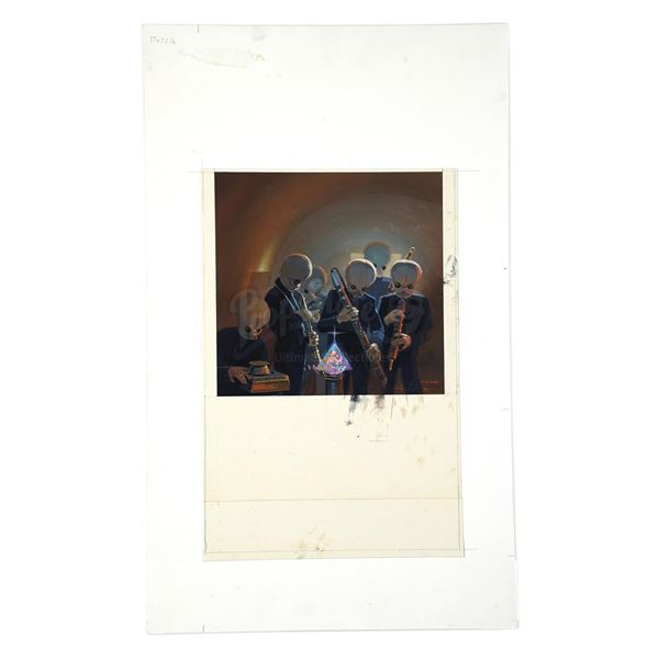 Lot # 335: Lucasfilm - Hand-Painted Ralph McQuarrie 1995 Lucasfilm Holiday Card Preliminary Illustra