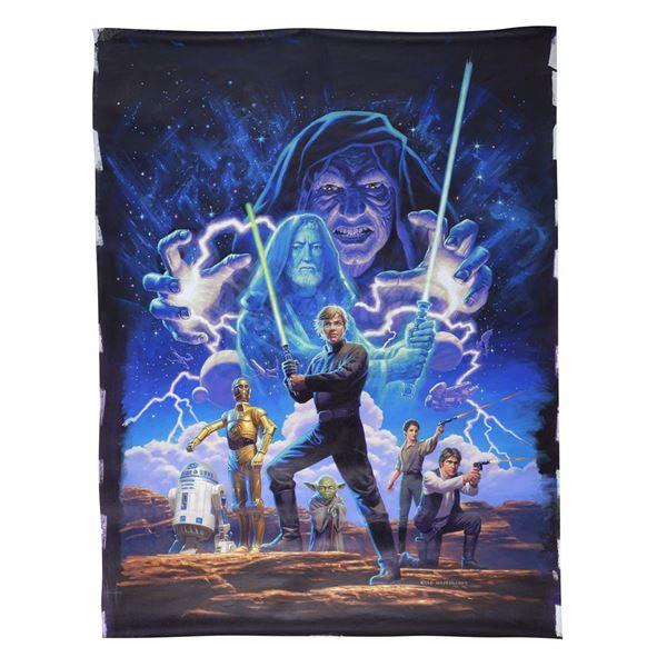 """Lot # 336: STAR WARS: ORIGINAL TRILOGY - Hand-Illustrated Greg Hildebrandt """"Star Wars: The Original"""