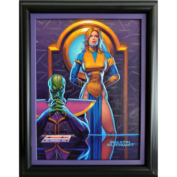 """Lot # 338: STAR WARS: SHADOWS OF THE EMPIRE (1990) - Hand-Painted Brothers Hildebrandt """"Ferreting Ou"""