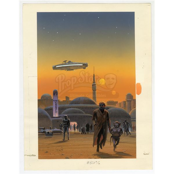 Lot # 339: THE MOS EISLEY CANTINA POP-UP BOOK (1995) - Hand-Painted Ralph McQuarrie Mos Eisley Canti
