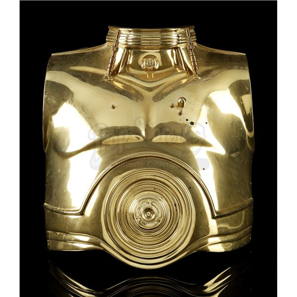 Lot # 341: STAR WARS: STAR TOURS (1987 - 2020) - C-3PO Chest Plate