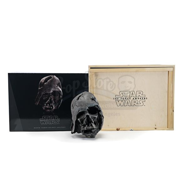 Lot # 342: STAR WARS - EP VII - THE FORCE AWAKENS (2015) - Propshop Limited Edition Melted Darth Vad