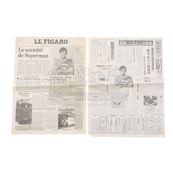 Lot # 361: SUPERMAN III (1983) - International Newspaper Covers