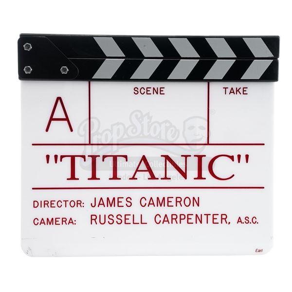 """Lot # 380: TITANIC (1997) - """"A"""" Camera Clapperboard"""