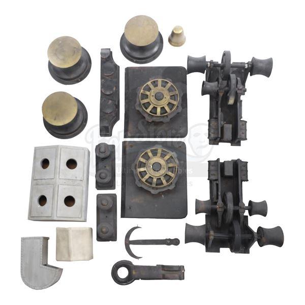 Lot # 382: TITANIC (1997) - Set of Bow Model Miniature Elements