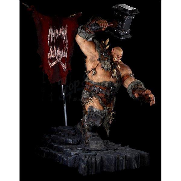 Lot # 410: WARCRAFT (2016) - Oversized Orgrim Doomhammer (Robert Kazinsky) Marketing Display Figure