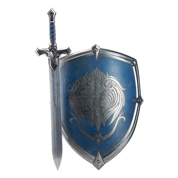 Lot # 412: WARCRAFT (2016) - Alliance Foot Soldier's Sword and Shield