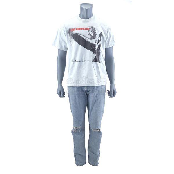 Lot # 421: WAYNE'S WORLD 2 (1993) - Garth Algar's (Dana Carvey) Led Zeppelin T-Shirt and Jeans