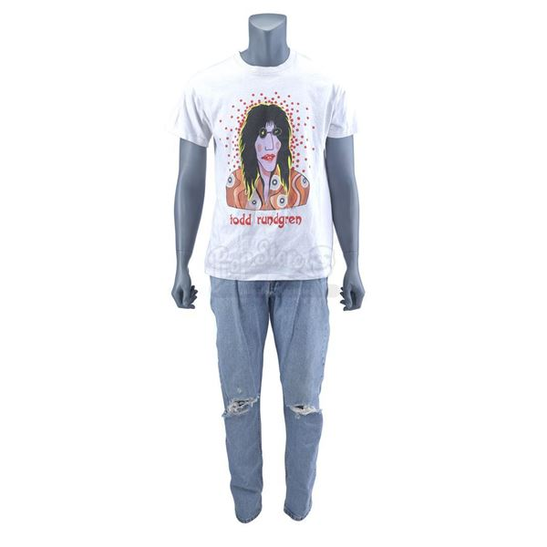 Lot # 422: WAYNE'S WORLD 2 (1993) - Garth Algar's (Dana Carvey) Todd Rundgren T-Shirt and Jeans