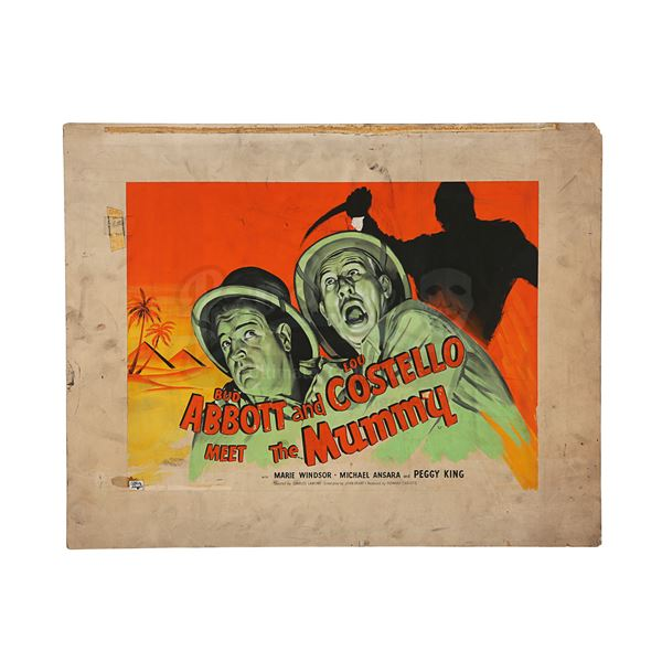 Lot # 449: ABBOTT AND COSTELLO MEET THE MUMMY (1955) - Hand-painted British Quad Poster Concept Artw