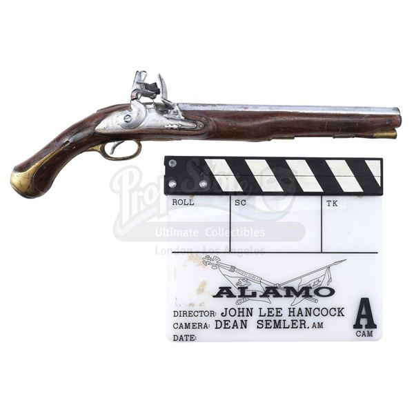 Lot # 458: ALAMO (2004), THE - Clapperboard and Flintlock Pistol
