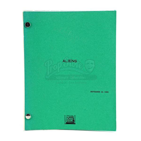 Lot # 463: ALIENS (1986) - Bound Final Shooting Script