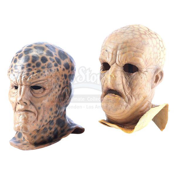 Lot # 485: BABYLON 5 (T.V. SERIES, 1993 - 1998) - Fashar (Kim Strauss) and Narn Masks
