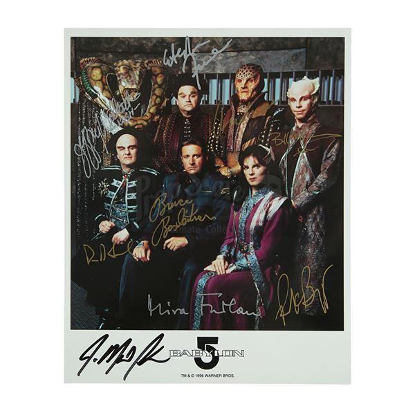 Lot # 486: BABYLON 5 (T.V. SERIES, 1993 - 1998) - Cast-Autographed Promotional Still