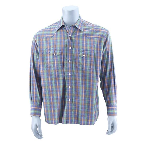 Lot # 907: MY NAME IS EARL (T.V. SERIES, 2005-2009) - Earl Hickey's (Jason Lee) Flannel Shirt