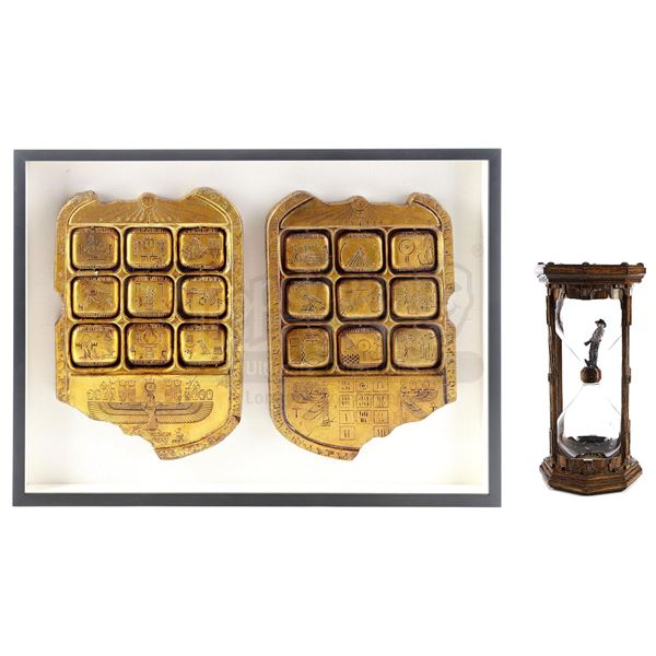 Lot # 914: NIGHT AT THE MUSEUM: BATTLE OF THE SMITHSONIAN (2009) - Framed Tablets of Ahkmenrah (Rami