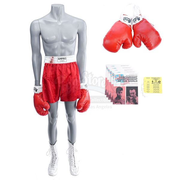 Lot # 938: ONE NIGHT IN MIAMI (2020) - Cassius Clay (Eli Goree) London Fight Costume with Henry Coop
