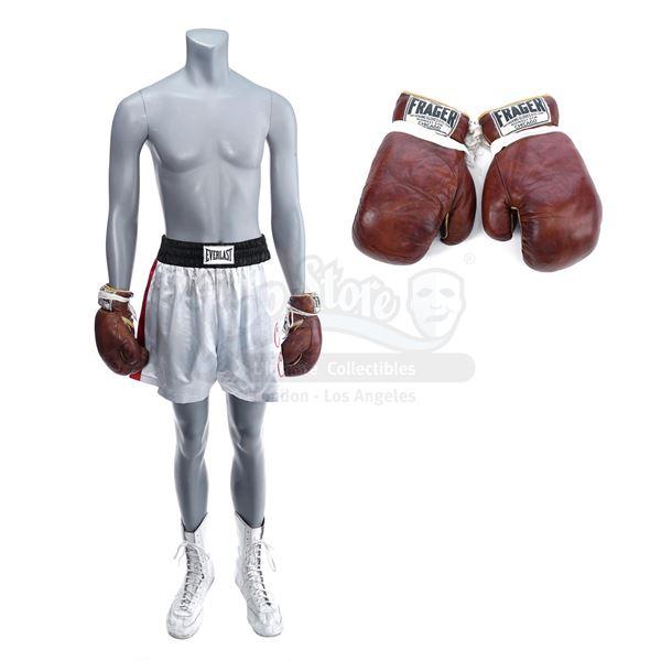 Lot # 939: ONE NIGHT IN MIAMI (2020) - Cassius Clay's (Eli Goree) Miami Fight Costume with Sonny Lis