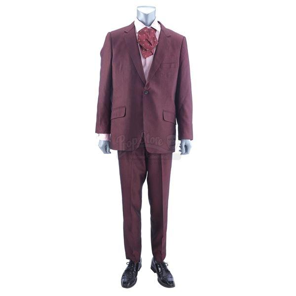 Lot # 943: ONE NIGHT IN MIAMI (2020) - Sam Cooke's (Leslie Odom Jr.) Burgundy Suit