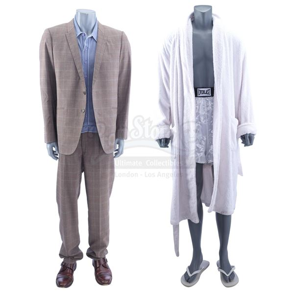 Lot # 944: ONE NIGHT IN MIAMI (2020) - Cassius Clay's (Eli Goree) Suit and Pool Costumes