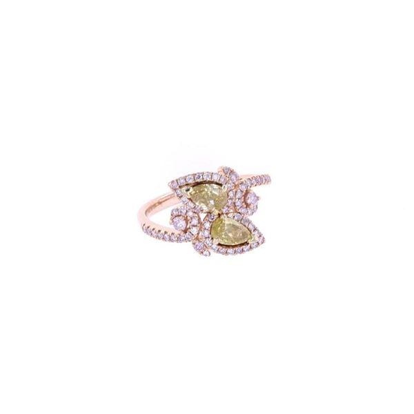 Fancy Pink & Yellow Diamond 14k Rose Gold Ring