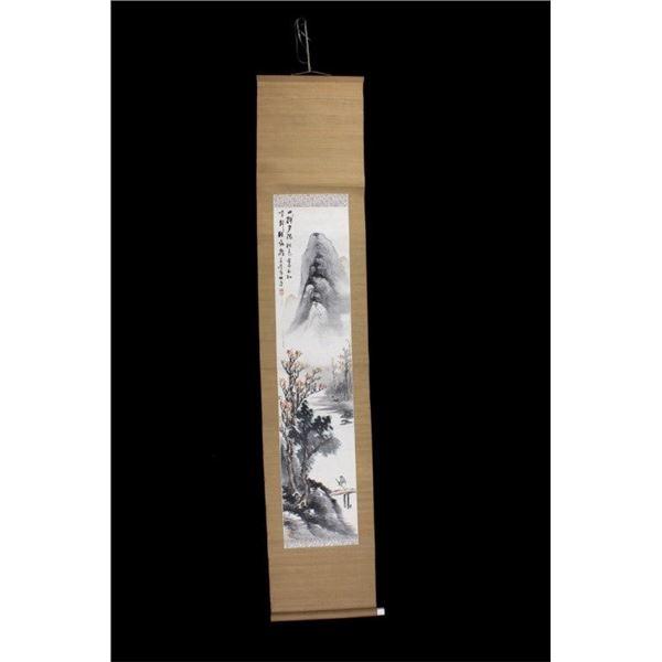 Japanese Chicuti Silk Bone Core Scroll C 1868-1912