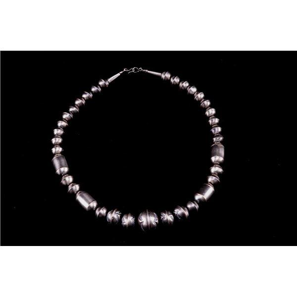 Navajo Calvin Largo Sterling Silver Necklace