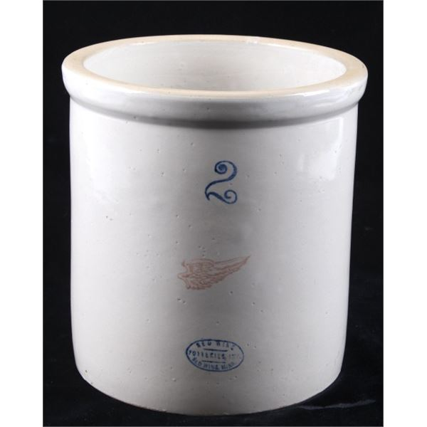 Early 1900's Red Wing 2 Gallon Pottery Crock