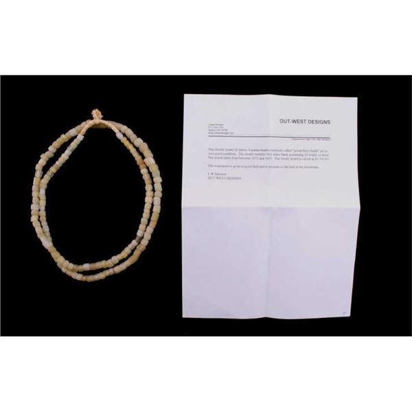 Rare Vaseline Goose Berry Bead Necklace