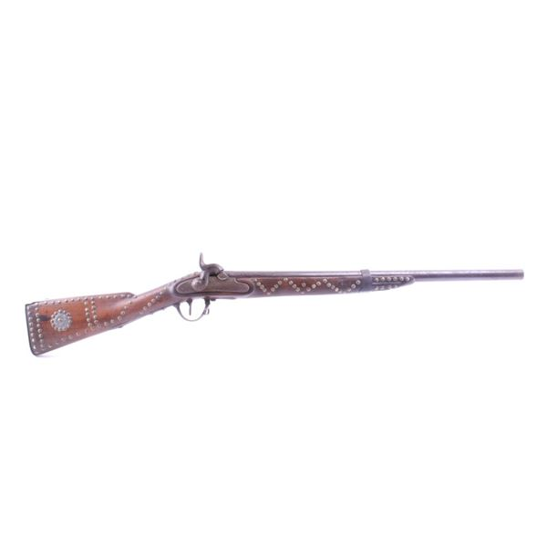 Cheyenne Lilly Dog Tacked Percussion Rifle c. 1883
