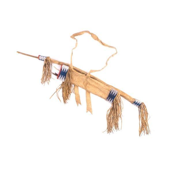 Cheyenne Beaded Bow & Arrow Quiver Set 19th C.