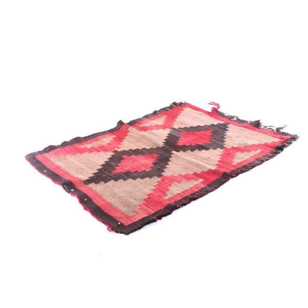 Early 1900's Navajo Ganado Crystal Wool Rug