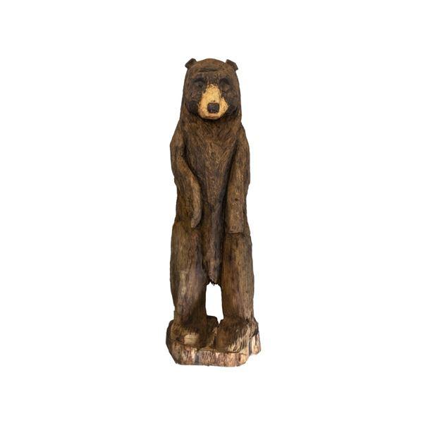 Montana Carver Chainsaw Carved White Pine Bear