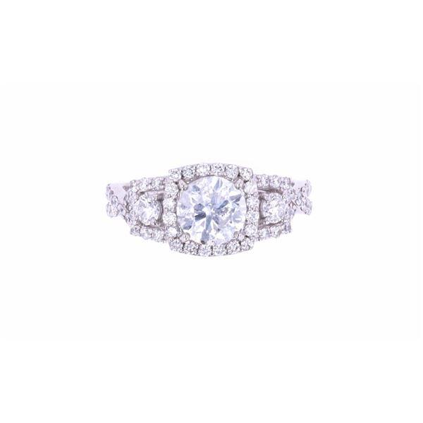 Brilliant 2.23 Carats Diamond Platinum Unity Ring
