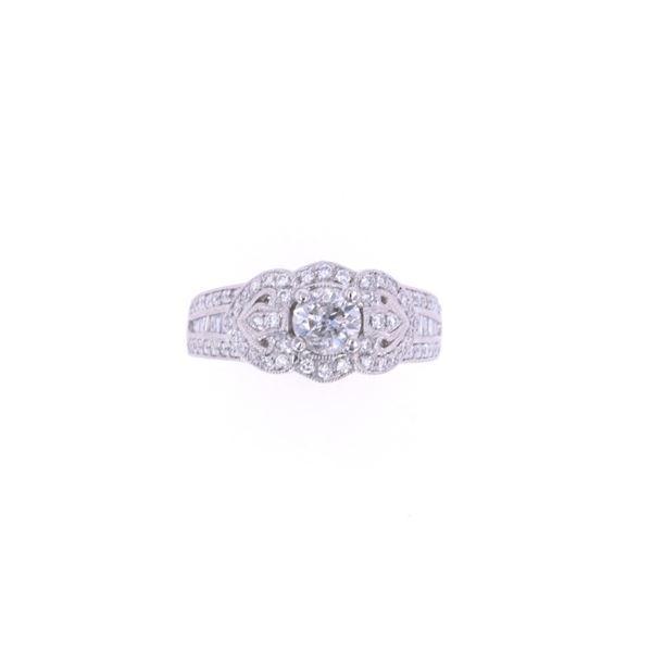 Art Deco Vintage Diamond Platinum Unity Ring