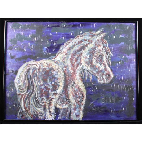 Signed Horse Impressionist Oil Painting c 2021