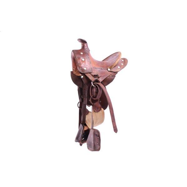 High Back Wade A-Fork Salesman Saddle c.1920's