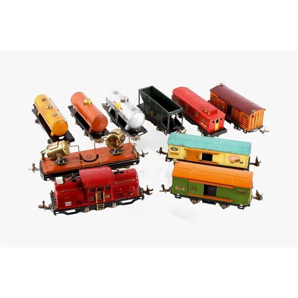 Lionel 252 Locomotive w/ Gas & Passenger Cars