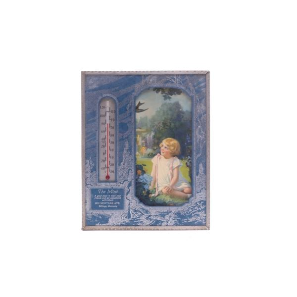 The Mint Billings Montana Thermometer C. 1920