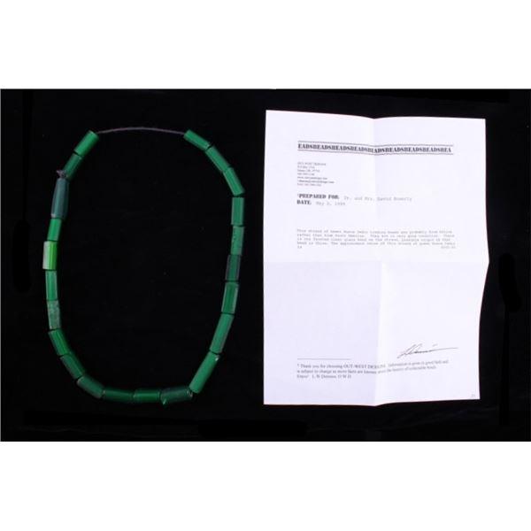 Rare Green Nueva Cadiz Trade Bead Necklace