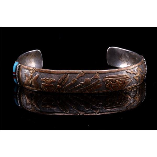 Zuni R Mahooty Story Teller 12K G. Filled Bracelet