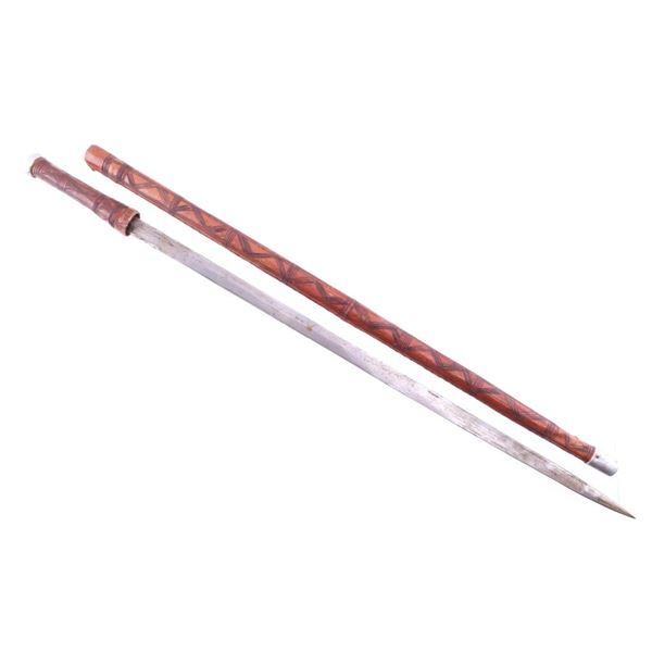 Somali, North African Leather Wrapped Sword Cane